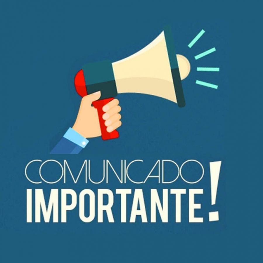 COMUNICADO OFICIAL SOBRE SUSPENSÃO DE ATIVIDADES